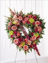 Eternal Rest Heart Funeral Flowers, Sympathy Flowers, Funeral Flower Arrangements from San Francisco Funeral Flowers.com Search for sympathy and funeral flower arrangement ideas from our SanFranciscoFuneralFlowers.com website. Our funeral and sympathy arrangements include crosses, casket covers, hearts, wreaths on wood easels. Open 365 days and provide delivery everyday including Sunday delivery to funeral homes from San Francisco CA to San Mateo CA. San Francisco Flowers