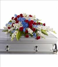 Distinguished Service Casket Spray Funeral Flowers, Sympathy Flowers, Funeral Flower Arrangements from San Francisco Funeral Flowers.com Search for chinese funeral, sympathy funeral flower arrangements from our SanFranciscoFuneralFlowers.com website. Our funeral and sympathy arrangements include crosses, casket covers, hearts, wreaths on wood easels, coronas fúnebres, arreglos fúnebres, cruces para velorio, coronas para difunto, arreglos fúnebres, Florerias, Floreria, arreglos florales, corona funebre, coronas