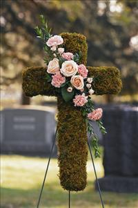 Moss Cross with Cluster Funeral Flowers, Sympathy Flowers, Funeral Flower Arrangements from San Francisco Funeral Flowers.com Search for chinese funeral, sympathy funeral flower arrangements from our SanFranciscoFuneralFlowers.com website. Our funeral and sympathy arrangements include crosses, casket covers, hearts, wreaths on wood easels, coronas fúnebres, arreglos fúnebres, cruces para velorio, coronas para difunto, arreglos fúnebres, Florerias, Floreria, arreglos florales, corona funebre, coronas