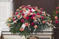 Two-Tone Pink Casket Spray Funeral Flowers, Sympathy Flowers, Funeral Flower Arrangements from San Francisco Funeral Flowers.com Search for chinese funeral, sympathy funeral flower arrangements from our SanFranciscoFuneralFlowers.com website. Our funeral and sympathy arrangements include crosses, casket covers, hearts, wreaths on wood easels, coronas fúnebres, arreglos fúnebres, cruces para velorio, coronas para difunto, arreglos fúnebres, Florerias, Floreria, arreglos florales, corona funebre, coronas