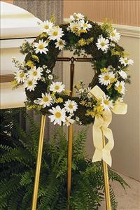 Wreath of Greens Funeral Flowers, Sympathy Flowers, Funeral Flower Arrangements from San Francisco Funeral Flowers.com Search for chinese funeral, sympathy funeral flower arrangements from our SanFranciscoFuneralFlowers.com website. Our funeral and sympathy arrangements include crosses, casket covers, hearts, wreaths on wood easels, coronas fúnebres, arreglos fúnebres, cruces para velorio, coronas para difunto, arreglos fúnebres, Florerias, Floreria, arreglos florales, corona funebre, coronas