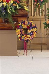 Small Mixed Wreath Funeral Flowers, Sympathy Flowers, Funeral Flower Arrangements from San Francisco Funeral Flowers.com Search for chinese funeral, sympathy funeral flower arrangements from our SanFranciscoFuneralFlowers.com website. Our funeral and sympathy arrangements include crosses, casket covers, hearts, wreaths on wood easels, coronas fúnebres, arreglos fúnebres, cruces para velorio, coronas para difunto, arreglos fúnebres, Florerias, Floreria, arreglos florales, corona funebre, coronas
