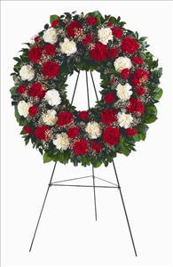 Red & White Carnation Wreath Funeral Flowers, Sympathy Flowers, Funeral Flower Arrangements from San Francisco Funeral Flowers.com Search for chinese funeral, sympathy funeral flower arrangements from our SanFranciscoFuneralFlowers.com website. Our funeral and sympathy arrangements include crosses, casket covers, hearts, wreaths on wood easels, coronas fúnebres, arreglos fúnebres, cruces para velorio, coronas para difunto, arreglos fúnebres, Florerias, Floreria, arreglos florales, corona funebre, coronas