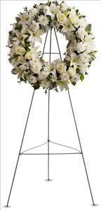 Serenity Wreath Funeral Flowers, Sympathy Flowers, Funeral Flower Arrangements from San Francisco Funeral Flowers.com Search for chinese funeral, sympathy funeral flower arrangements from our SanFranciscoFuneralFlowers.com website. Our funeral and sympathy arrangements include crosses, casket covers, hearts, wreaths on wood easels, coronas fúnebres, arreglos fúnebres, cruces para velorio, coronas para difunto, arreglos fúnebres, Florerias, Floreria, arreglos florales, corona funebre, coronas