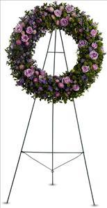 Heavenly Wreath Funeral Flowers, Sympathy Flowers, Funeral Flower Arrangements from San Francisco Funeral Flowers.com Search for sympathy and funeral flower arrangement ideas from our SanFranciscoFuneralFlowers.com website. Our funeral and sympathy arrangements include crosses, casket covers, hearts, wreaths on wood easels. Open 365 days and provide delivery everyday including Sunday delivery to funeral homes from San Francisco CA to San Mateo CA. San Francisco Flowers