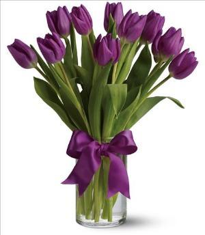 Pionate Purple Tulips Funeral Flowers Sympathy Flower Arrangements From San Francisco