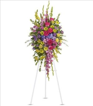 Bright and Beautiful Spray Funeral Flowers, Sympathy Flowers, Funeral Flower Arrangements from San Francisco Funeral Flowers.com Search for chinese funeral, sympathy funeral flower arrangements from our SanFranciscoFuneralFlowers.com website. Our funeral and sympathy arrangements include crosses, casket covers, hearts, wreaths on wood easels, coronas fúnebres, arreglos fúnebres, cruces para velorio, coronas para difunto, arreglos fúnebres, Florerias, Floreria, arreglos florales, corona funebre, coronas